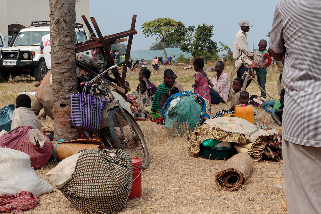 """People stopped in the first safe place they found – schools empty for the holidays. The people living here have no idea what will happen to them if they have not found shelter by the time the term starts again"", says Stéphane Reynier de Montlaux, emergency coordinator in Tanganyika. Photographer: Stéphane Reynier de Montlaux/MSF"