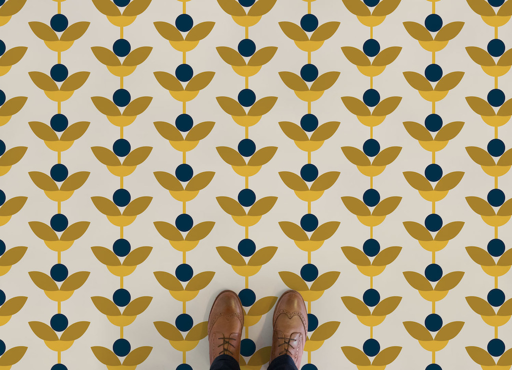 May | Retro Floral Vinyl Flooring