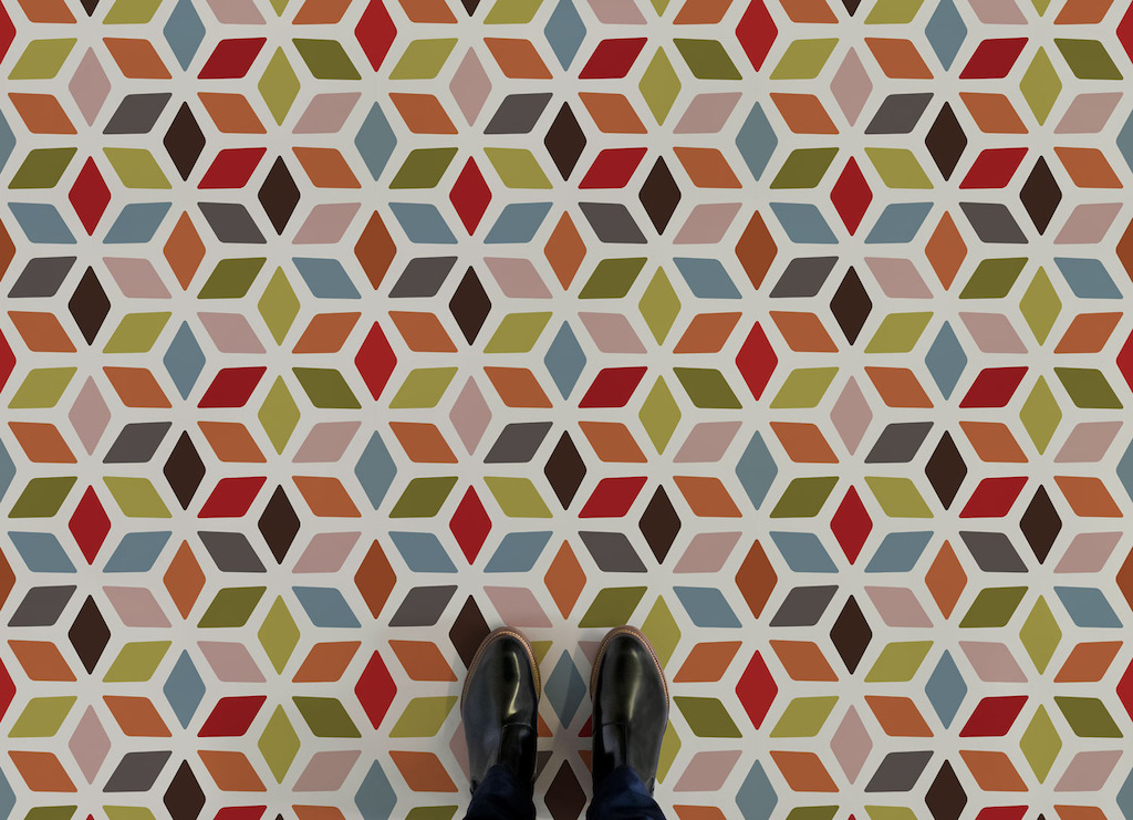 Cindy |   <br/>Colourful Retro Vinyl Flooring