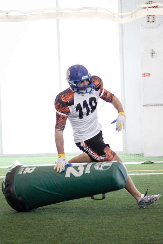 Boyd Richardson running through drill at the Edmonton Regional Combine. CFL/Anthony Houle
