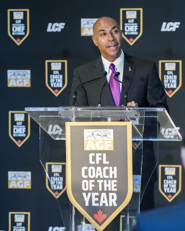 CFL Commissioner Jeffrey L. Orridge speaks at the announcement. CFL/Adam Gagnon