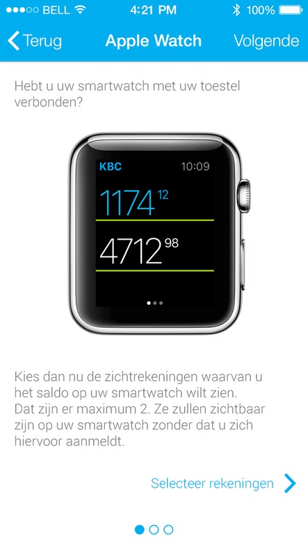 KBC Smart Watch Instellen