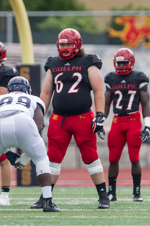 No. 13 OL Andrew Pickett Guelph (Photo Credit: Kyle Rodriguez/University of Guelph)