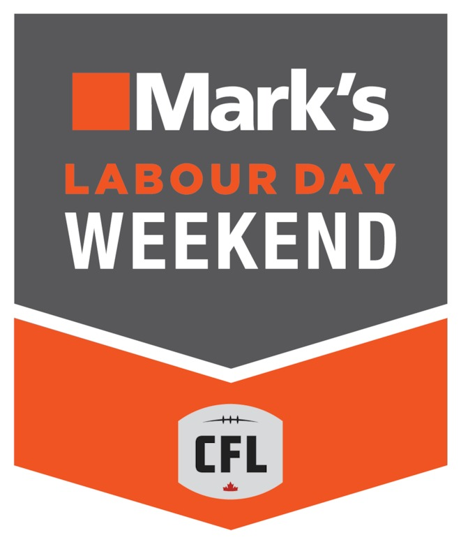 Mark's Labour Day Weekend Logo.