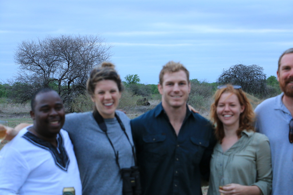 David Pocock with members of Save The African Rhino Foundation. Photo Winsome Denyer.