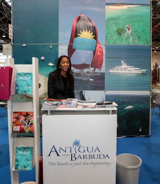 Antigua and Barbuda's Promotional Booth at the OECS' joint representation at Boot 2016 in Germany.