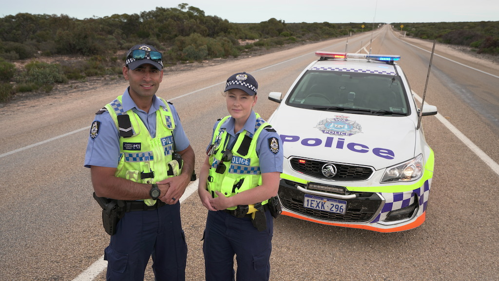 Click to download image of WA Police - Euchla Remote Policing, Constables Kam Kamboj & Luci Cleghorn