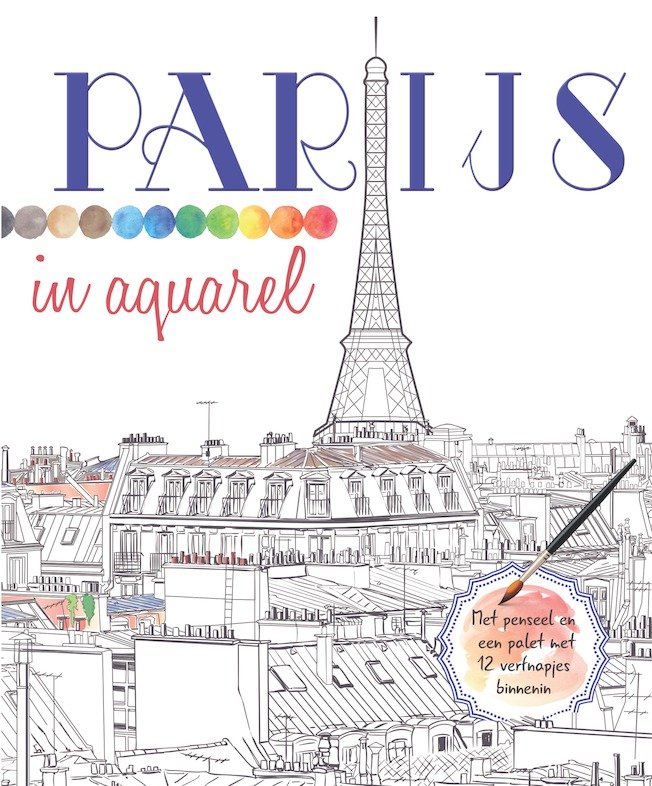 Cover 'Parijs in aquarel'