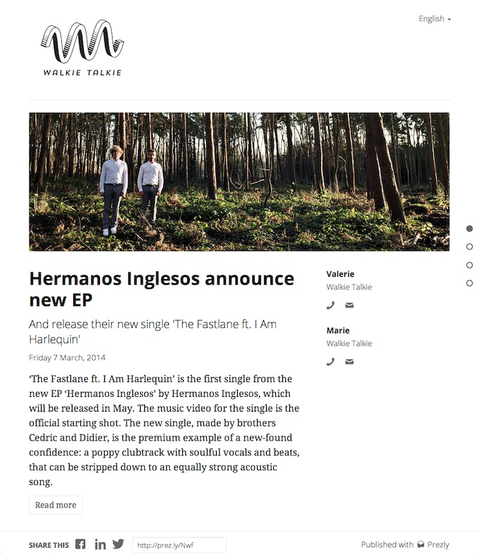 album press release template