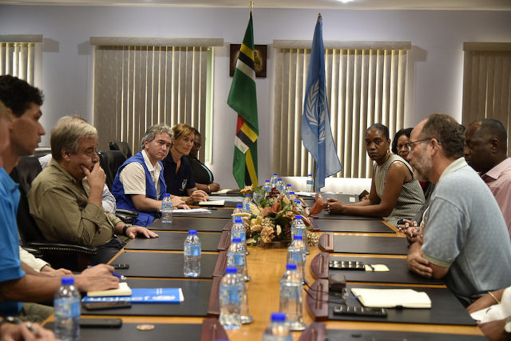 UN Secretary-General meets with the Dominica Parliament.