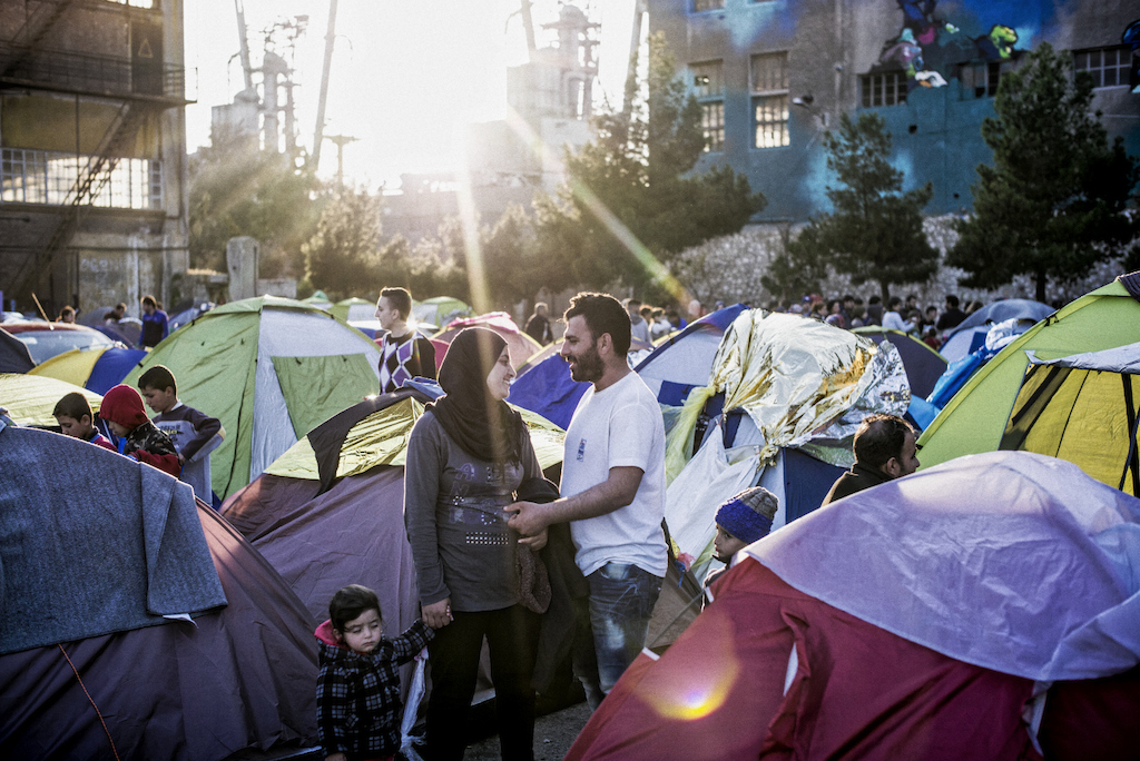 "Piraeus harbor. Since the beginning of March 2016, many countries on the 'Balkany road"" have closed their border, putting a stop to thousands of refugees' exile in Greece. More than 5 000 of them turned Athens harbor into a camp. Photographer:  Guillaume Binet"