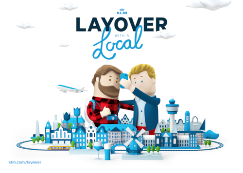 KLM connects transfer passengers to Amsterdam locals