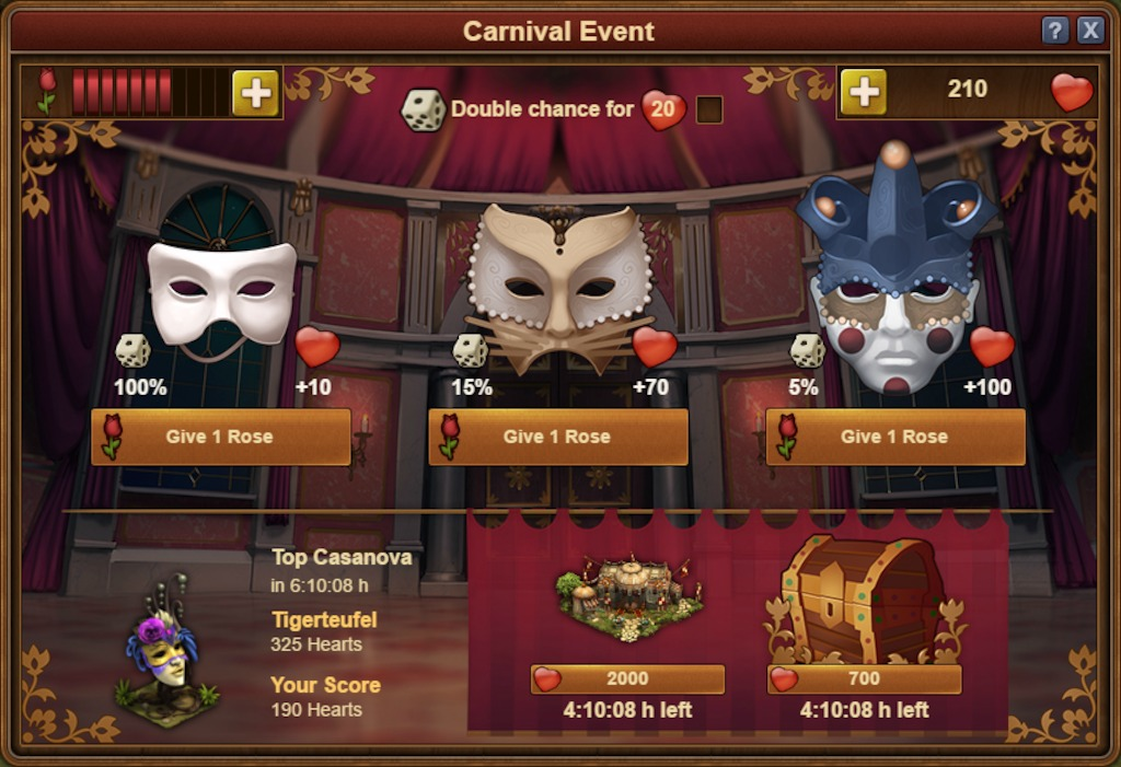 "Forge of Empires ""Venezianischer Karneval"""