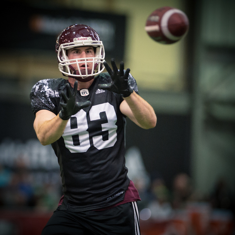 Daniel Vandervoort at the CFL Combine presented by adidas. Photo credit: Johany Jutras/CFL