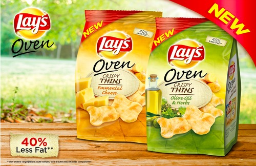 Lay's Oven Crispy Thins Key Visual