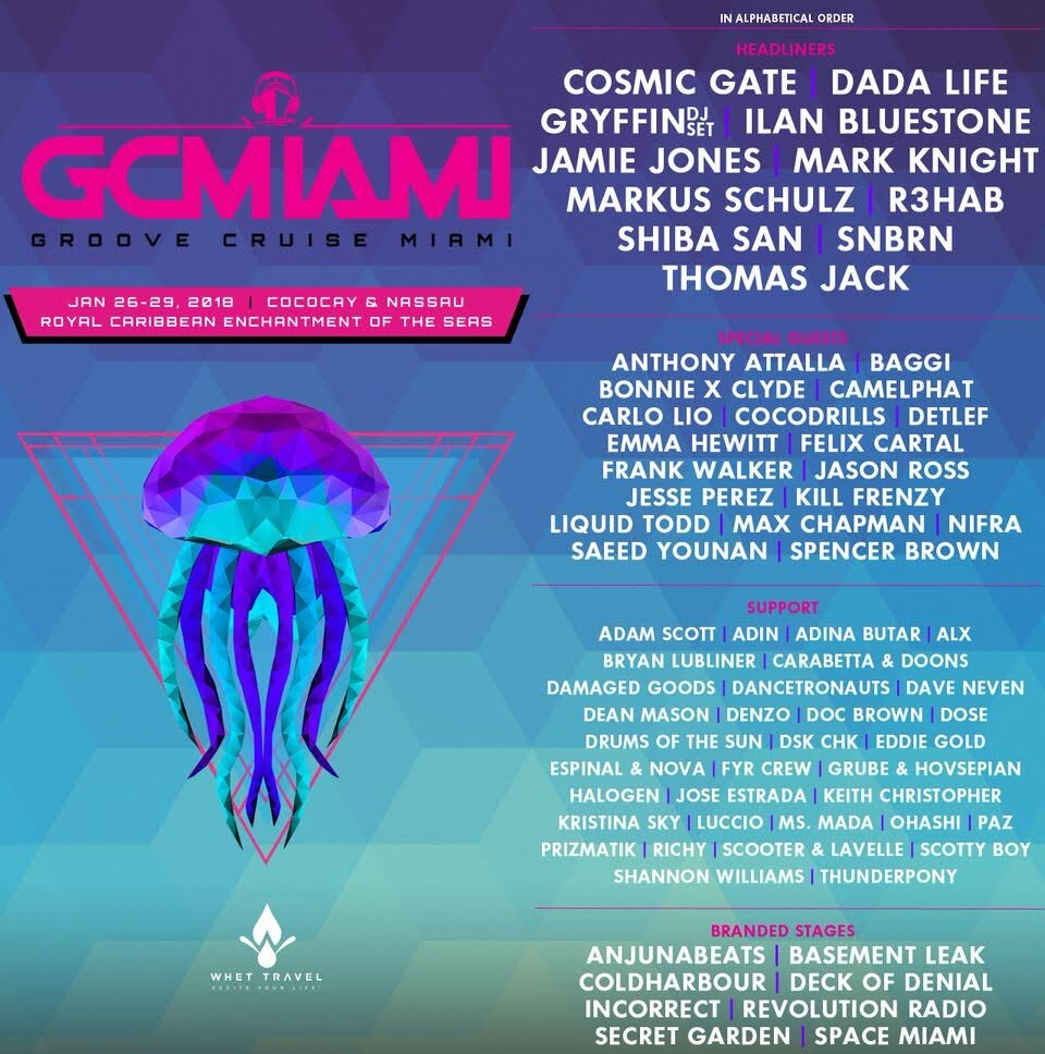 Groove Cruise announces 2018 phase two lineup for Miami sailingUnnamed