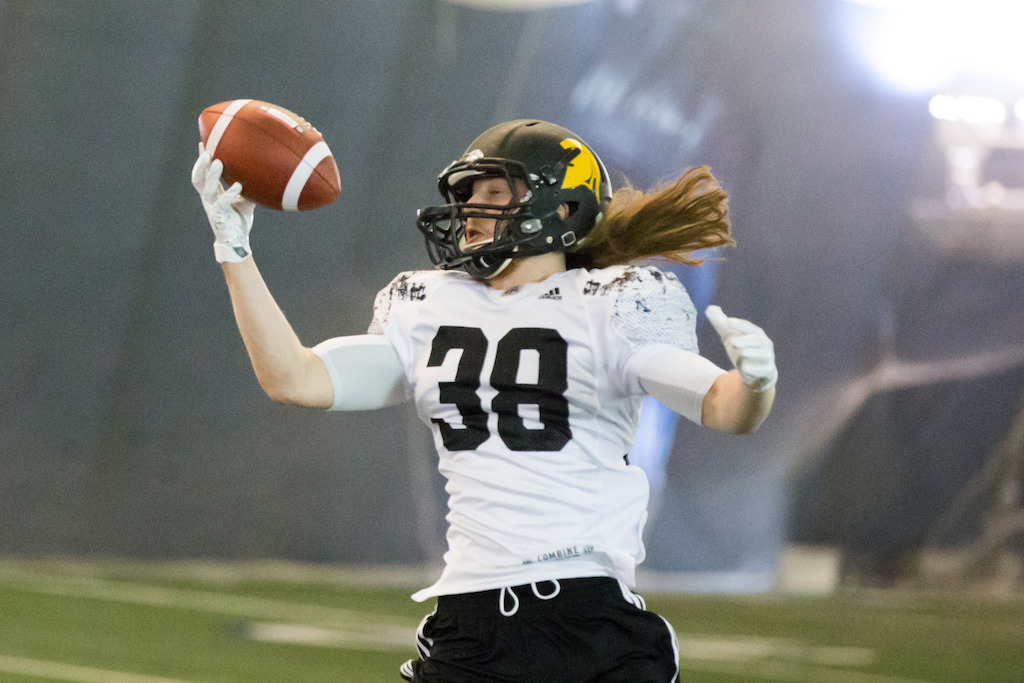 Jordan Hoover at the Ontario Regional Combine presented by adidas. Photo credit: Kevin Sousa?CFL.ca