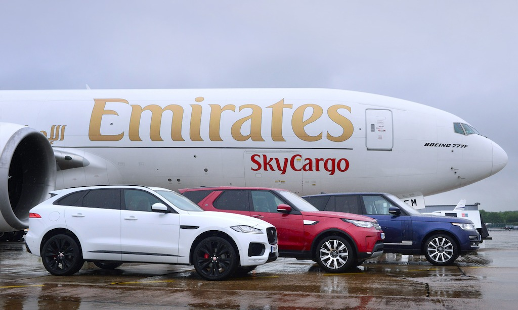 Emirates SkyCargo transports Jaguar Land Rover cars from Birmingham to Chicago
