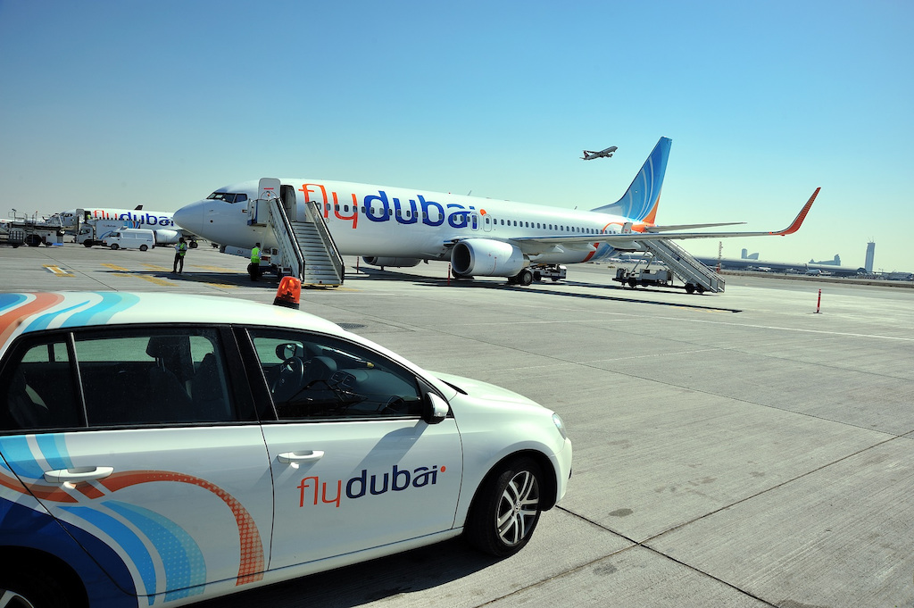 Aircraft on the ground at Dubai International Airport (DXB)