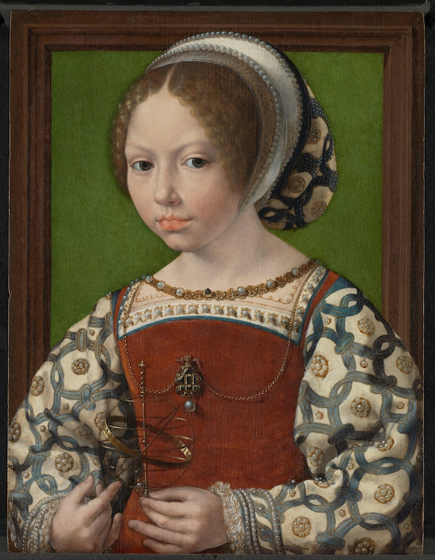 In Search of Utopia © Jan Gossaert, A Young Princess with armillary sphere c. 1530, The National Gallery, London
