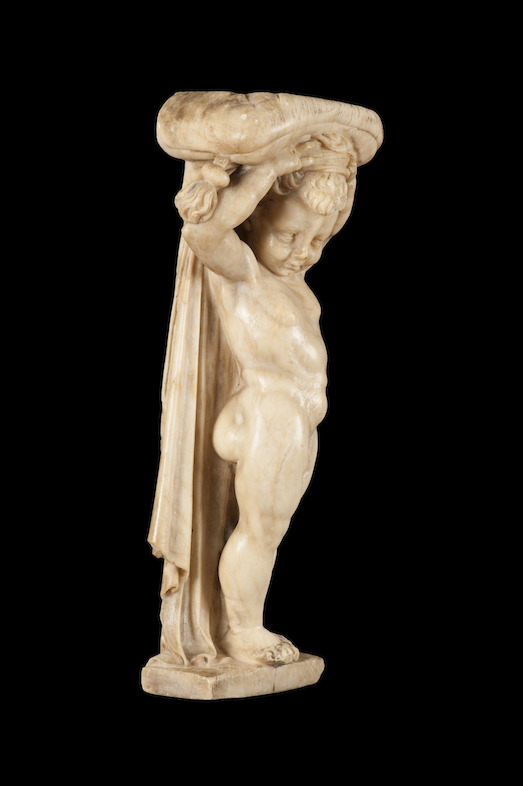 Side view of the newly acquired putto<br/>© Lopez de Aragon SL.