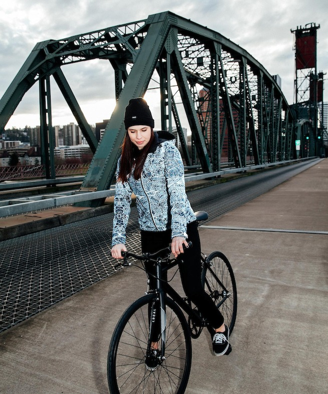 Women's Odyssey Jacket with Flash on Bridge