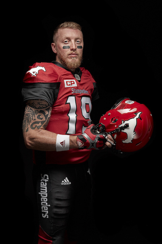 Calgary Stampeders adidas home jersey (Bo Levi Mitchell).