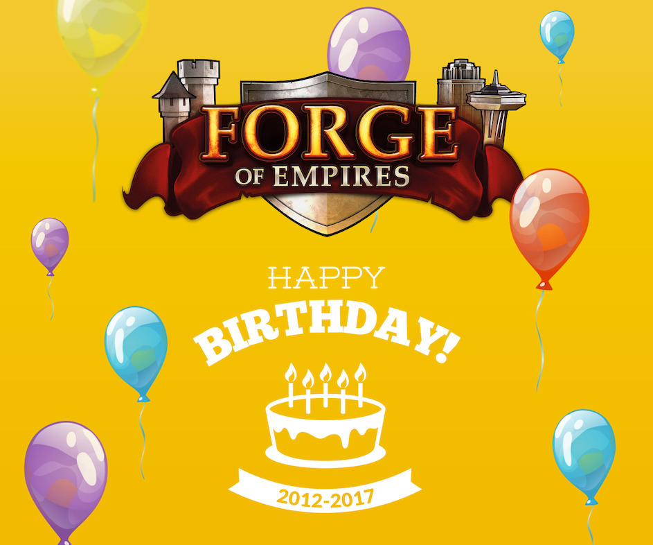 Happy Birthday Forge of Empires