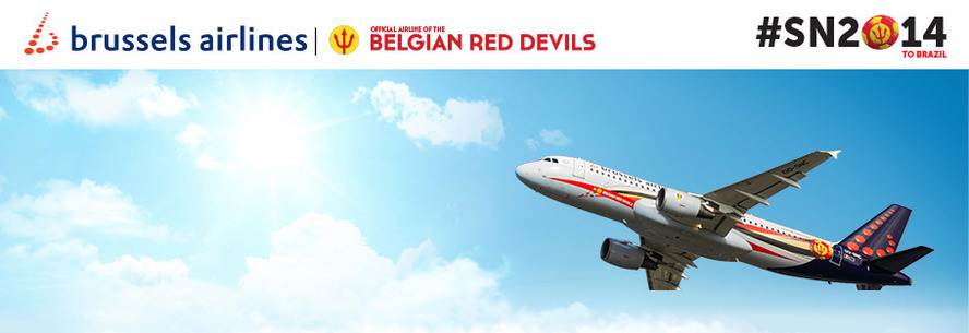 Brussels Airlines compagnie aérienne officielle des Diables Rouges