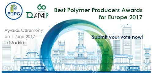 Preview: SUBMIT YOUR VOTE - Rating for the Best Polymer Producers Awards for Europe 2017 open now