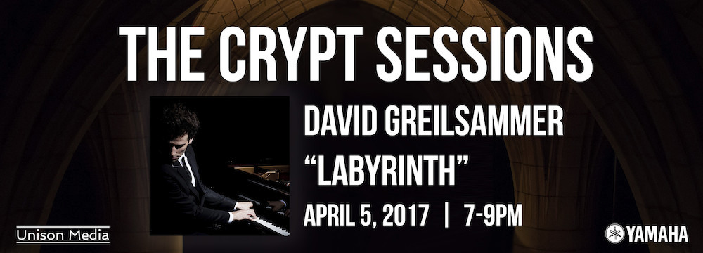 <i>The Crypt Sessions</i> presents David Greilsammer's <i>Labyrinth</i>, April 5 2017