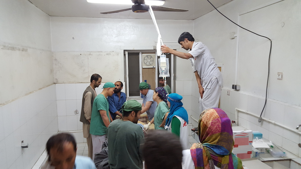 Kitchen used as operating theatre during attack (photo credit: MSF)