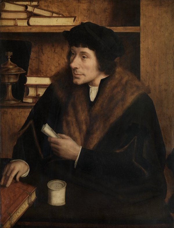 In Search of Utopia © Quinten Massys, Portrait of Pieter Gillis, 1517. Royal Museums of Fine Arts, Antwerp.