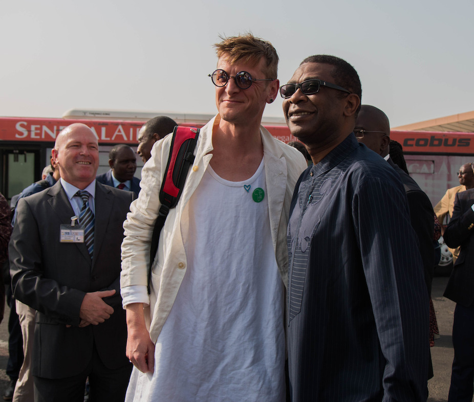 Ozark Henry and Youssou N'Dour, ex-Minister of Tourism and Culture of Senegal