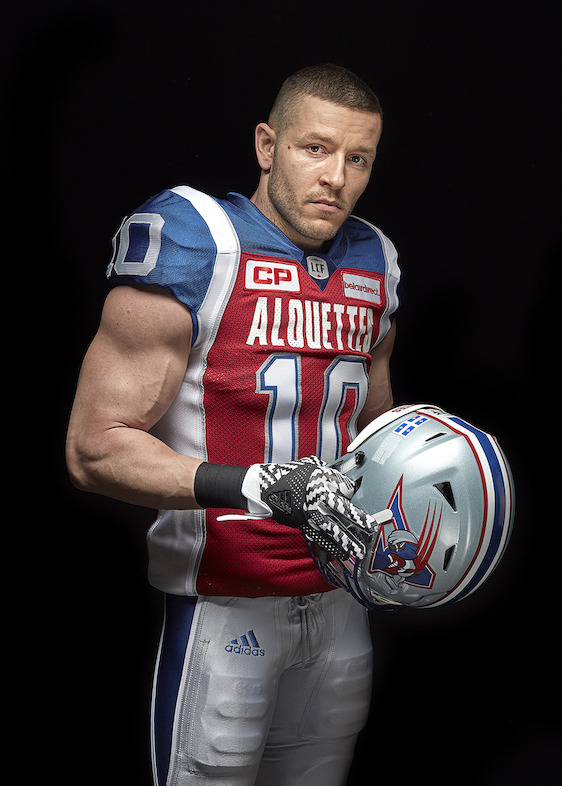 Montreal Alouettes adidas home jersey (Marc-Olivier Brouillette).