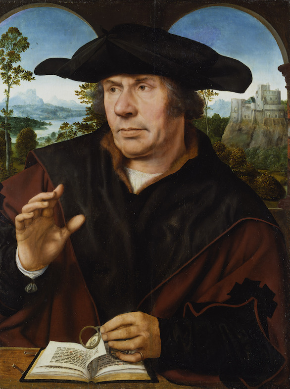 In Search of Utopia © Quinten Metsys, Portrait of a Scholar, c. 1525-1530. Städel Museum, Frankfurt am Main.