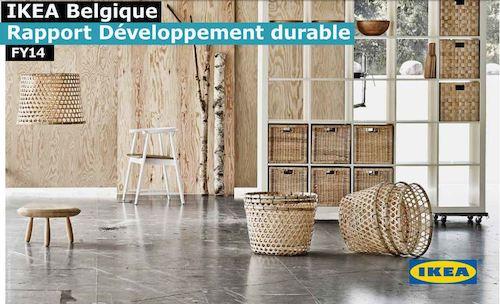 ikea belgique publie son rapport de d veloppement durable 2014. Black Bedroom Furniture Sets. Home Design Ideas