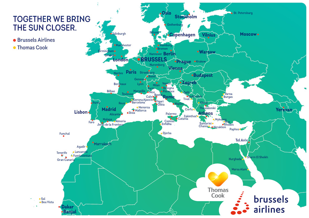 Partnership Neckermann Thomas Cook And Brussels Airlines Gives - Thomas cook us maps