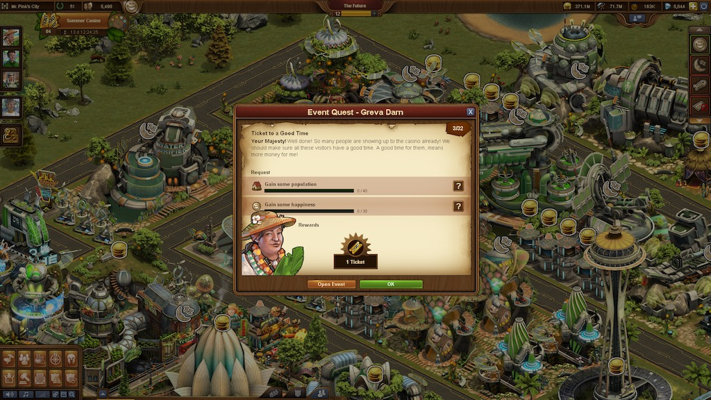 Forge of Empires Sommerevent Glücksrad