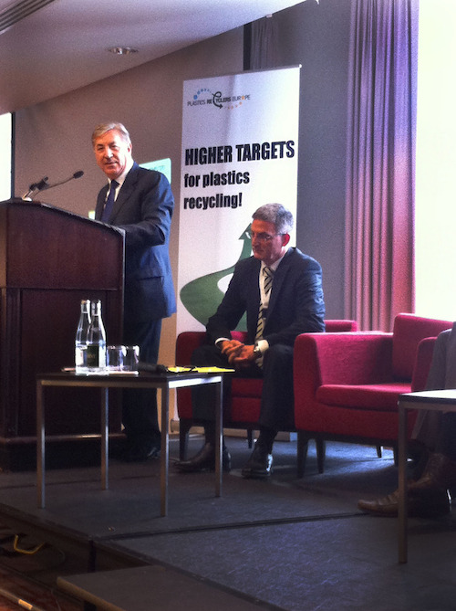 Karmenu Vella, Commissioner for Environment & Maritime Affairs; Ton Emans, PRE
