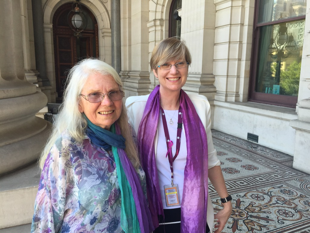 Fiona Richardson MP and her mother, Veronica Power