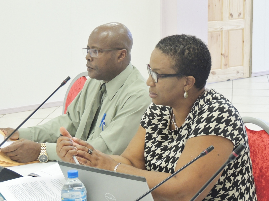 OECS Programme Officer for Agriculture - George Alcee (left)