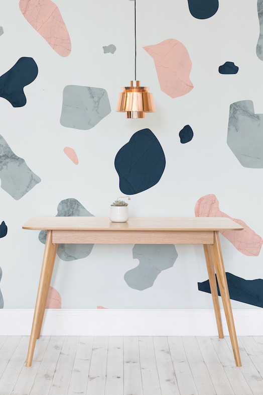 Large Terrazzo Mural - Styled