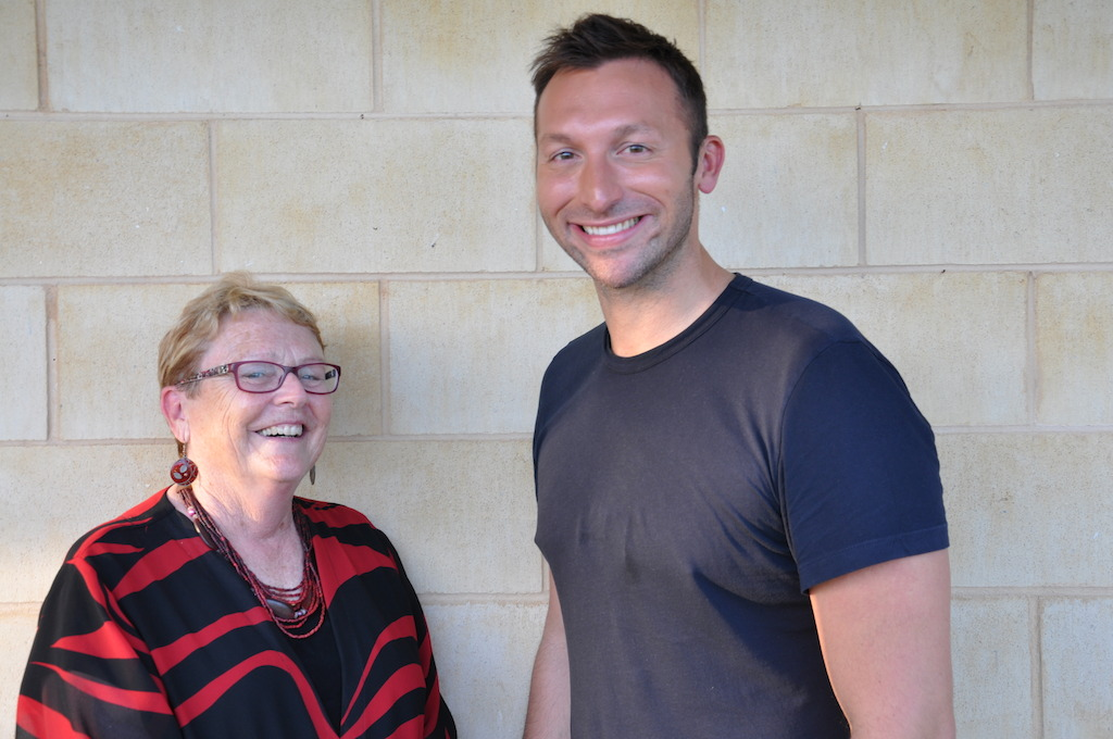 Professor Marilyn Campbell, specialist child psychologist with Ian Thorpe