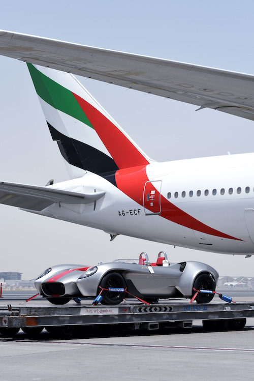 Preview: Emirates SkyCargo transports first car designed and built in the U.A.E.