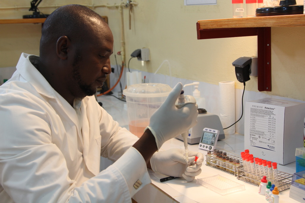 In the laboratory of Maradi, a team of a dozen people receive about 1,200 specimens (blood, urine/stool, mothers' breast milk...) every week, to be analyzed for the trial.