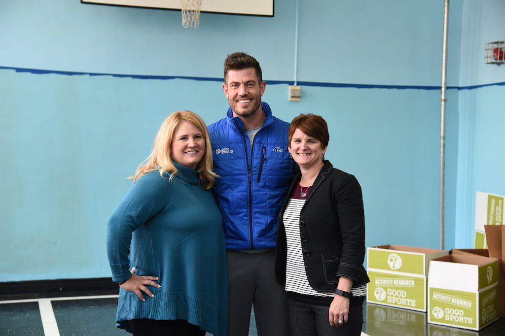 Jesse Palmer joins Good Sports co-founders Christy Keswick and Melissa Harper in NYC.