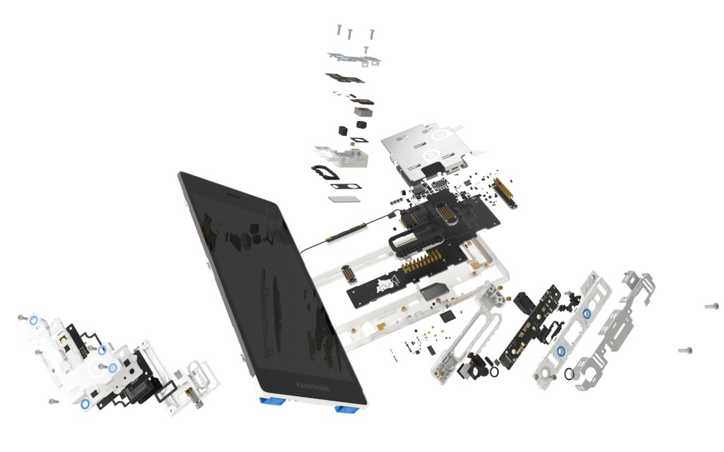 Fairphone exploded view
