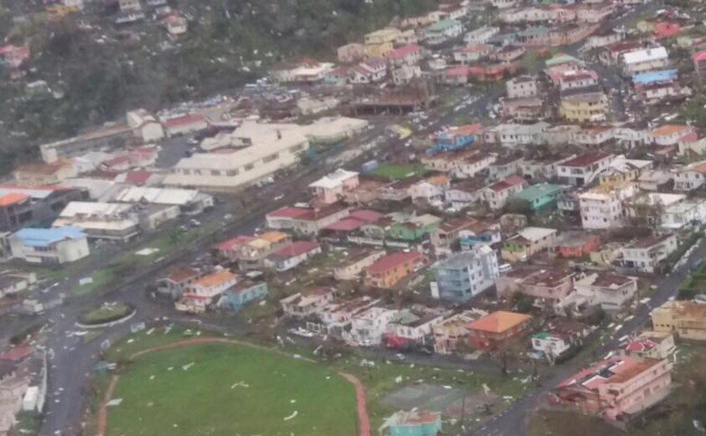 Destruction in Dominica (Photo courtesy ABS TV)
