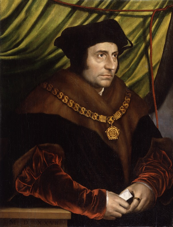 In Search of Utopia © Hans Holbein the Younger (after), Portrait of Thomas More, 1527.  National Portrait Gallery, London.